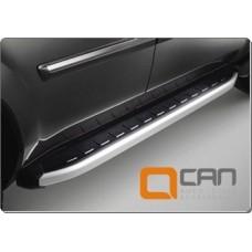 Пороги алюминиевые (Alyans) Mazda (Мазда) BT50 (2006-2011)/ Ford Ranger (2006-2012)