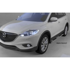 Пороги алюминиевые (Emerald silver ) Mazda (Мазда) CX9 (2013-)