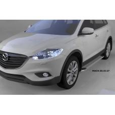 Пороги алюминиевые (Opal) Mazda (Мазда) CX9 (2013-)