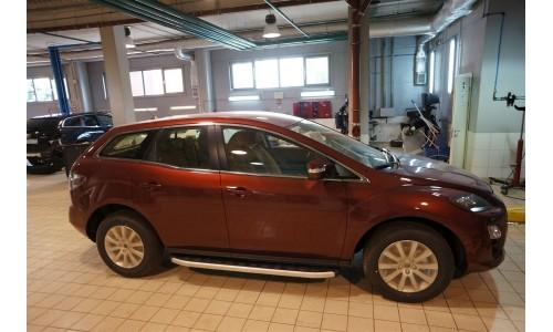 Пороги алюминиевые (Alyans) Mazda (Мазда) CX7 (2011-) на Mazda CX-7 (2010-2013)