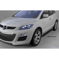 Пороги алюминиевые (Sapphire Black) Mazda (Мазда) CX7 (2011-)