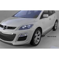 Пороги алюминиевые (Topaz) Mazda (Мазда) CX7 (2011-)