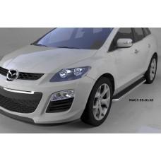 Пороги алюминиевые (Ring) Mazda (Мазда) CX7 (2011-)