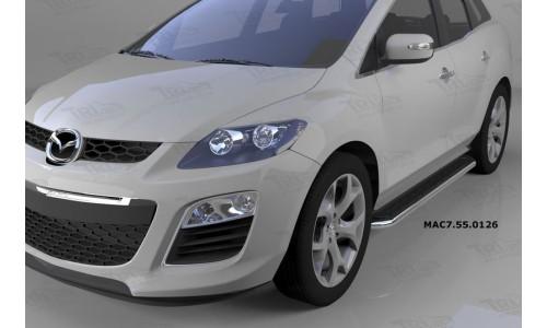 Пороги алюминиевые (Ring) Mazda (Мазда) CX7 (2011-) на Mazda CX-7 (2010-2013)