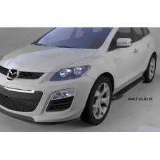 Пороги алюминиевые (Onyx) Mazda (Мазда) CX7 (2011-)