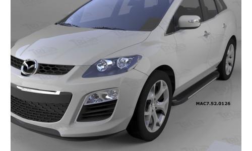 Пороги алюминиевые (Onyx) Mazda (Мазда) CX7 (2011-) на Mazda CX-7 (2010-2013)