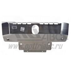 Защита картера Land Rover Discovery III V-2,7TD(2004-)+бампер (Алюминий 4 мм)
