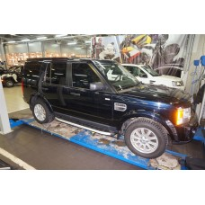Пороги алюминиевые (Alyans) Land Rover Discovery 4 (2010-)/Discovery 3 (2008-2010)