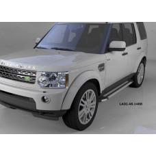 Пороги алюминиевые (Brillant) Land Rover Discovery 4 (2010-)/ Discovery 3 (2008-2010) (серебр)