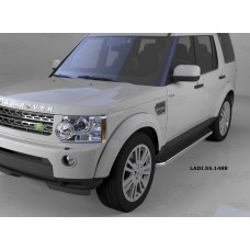 Пороги алюминиевые (Ring) Land Rover Discovery 4 (2010-)/ Discovery 3 (2008-2010)