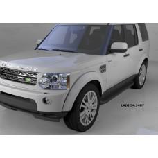 Пороги алюминиевые (Sapphire Black) Land Rover Discovery 4 (2010-)/Discovery 3 (2008-2010)