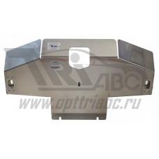 Защита картера Land Rover Discovery IV, V-2,7TD;3,0TD(2009-) + бампер (Алюминий 4 мм)