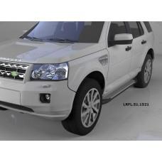 Пороги алюминиевые (Sapphire Silver) Land Rover Freelander 2 (2008-)