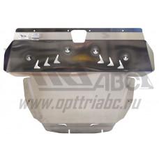 Защита картера двигателя и кпп Kia Sorento (Киа Соренто) V-2.4 (2009-12)  (Алюминий 4 мм)