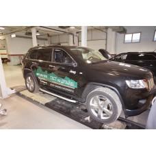 Пороги алюминиевые (Alyans) Jeep Gr. Cherokee (2011-) (кроме SRT)