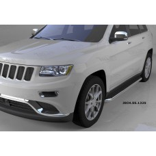 Пороги алюминиевые (Ring) Jeep Gr. Cherokee (2011-) (кроме SRT)