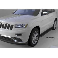 Пороги алюминиевые (Sapphire Black) Jeep Gr. Cherokee (2011-) (кроме SRT)