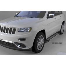 Пороги алюминиевые (Topaz) Jeep Gr. Cherokee (2011-) (кроме SRT)