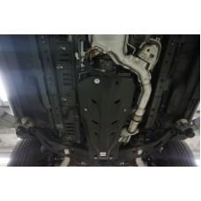 Защита картера Infiniti (Инфинити) FX30 V- 3.0D  +КПП, 2 части