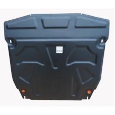 Защита картера двигателя и кпп Hyundai Santa Fe (Хёндай Санта Фе) (V-все, 2012-2015-) (Сталь 1,8 мм)