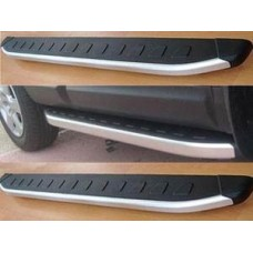 Пороги алюминиевые (Alyans) Hyundai Tucson (2004-2009)