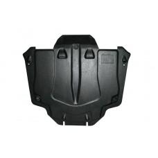 Защита картера двигателя и кпп Honda (Хонда) CR-V III; V-2.0; 2,4 (2006-2012)  (Композит 6 мм)