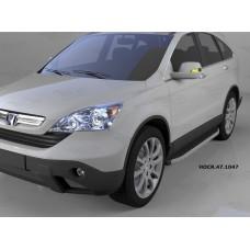 Пороги алюминиевые (Alyans) Honda (Хонда) CR-V (2007-2012)