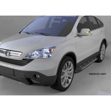 Пороги алюминиевые (Corund Silver) Honda (Хонда) CR-V (2007-2012)