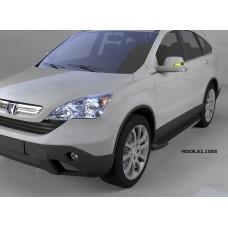 Пороги алюминиевые (Onyx) Honda (Хонда) CR-V (2007-2012)