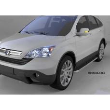 Пороги алюминиевые (Ring) Honda (Хонда) CR-V (2007-2012)