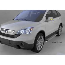 Пороги алюминиевые (Opal) Honda (Хонда) CR-V (2007-2012)