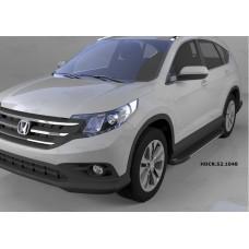 Пороги алюминиевые (Onyx) Honda (Хонда) CR-V (2012-2014 /2015-)