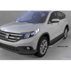 Пороги алюминиевые (Ring) Honda (Хонда) CR-V (2012-2014 /2015-)