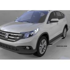 Пороги алюминиевые (Opal) Honda (Хонда) CR-V (2012-2014 /2015-)