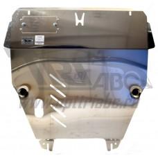 Защита картера двигателя и кпп Honda (Хонда) Pilot, V-3,5 (2008-11)  (Алюминий 4 мм)
