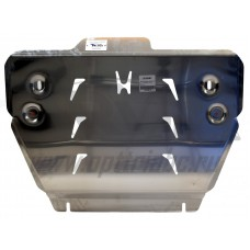 Защита картера двигателя и кпп Honda (Хонда) Pilot, V-3,5 (2011-)  (Алюминий 4 мм)