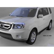 Пороги алюминиевые (Onyx) Honda (Хонда) Pilot (2008-2010/2010-)