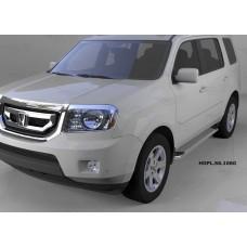 Пороги алюминиевые (Opal) Honda (Хонда) Pilot (2008-2010/2010-)