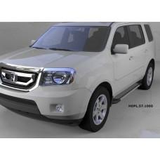 Пороги алюминиевые (Topaz) Honda (Хонда) Pilot (2008-2010/2010-)