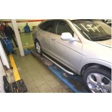 Пороги алюминиевые (Alyans) Honda (Хонда) CrossTour (2010-) (нагр. до 40 кг.)