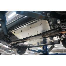 Защита днища Ford Explorer,V-все ( 2010-2015-) 3 части (без защиты картера) (Алюминий 4 мм)