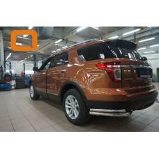 Защита заднего бампера Ford Explorer (2013-2015) (уголки) d 60/42