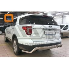 Защита заднего бампера Ford Explorer (2015-) (одинарная волна) d60