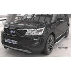 Пороги алюминиевые (Alyans) Ford Explorer (2011-2013 / 2013-/ 2015-)