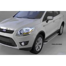 Пороги алюминиевые (Opal) Ford Kuga (2008-2013)