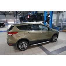 Пороги алюминиевые (Alyans) Ford Kuga (2013-)