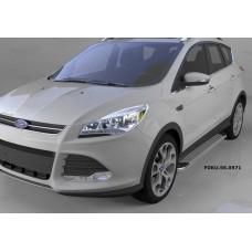 Пороги алюминиевые (Opal) Ford Kuga (2013-)