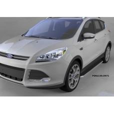 Пороги алюминиевые (Ring) Ford Kuga (2013-)