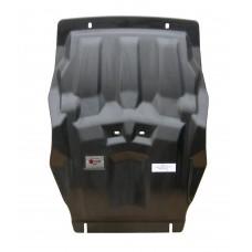 Защита картера двигателя и кпп Ford Ranger V-2,2TD; КПП-все(2012-)+РК, из 2х частей (Композит 8-10 м