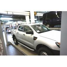 Пороги алюминиевые (Alyans) Ford Ranger (2012-) 4 дв.